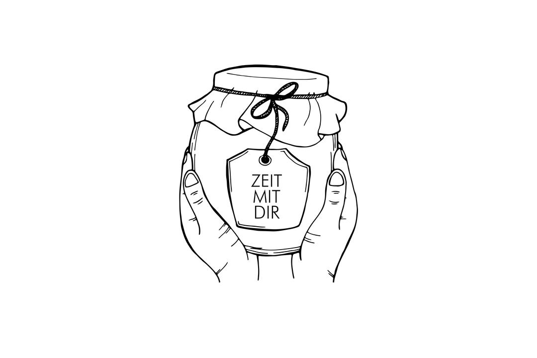 Zeit Mit Dir Logo - Marmeladenglas in Händen